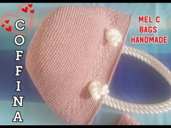 "Bag ""COFFINA"" - Video Tutorial / Mel C Bags Handmade #Uncinetto # Crochet #Coffa"
