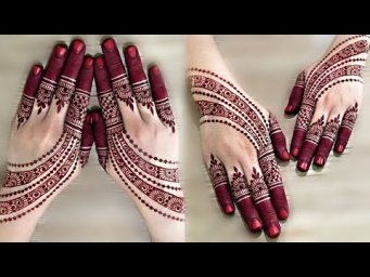 New Latest Mehndi Design for eid_Easy Beautiful Henna 2021_Simple Arabic Mehndi Design For back Hand
