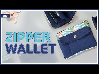 DIY/ ZIPPED CURVED WALLET/ L-shaped round zip wallet / 지퍼 반지갑 만들기/ sewing / tutorial [Tendersmile]