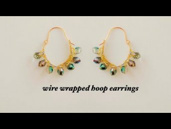 diy hoop earrings/how to make wire wrapped hoop earrings/beautiful party wear handmade earrings