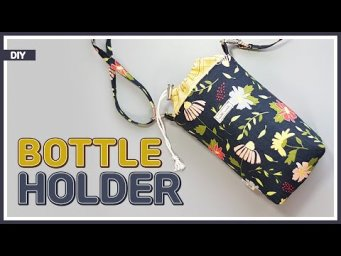 DIY/ BOTTLE HOLDER/ BOTTLE COVER/ 물병커버 만들기/ 보틀커버/ 물병파우치 만들기/ sewing/ tutorial [Tendersmile Handmade]