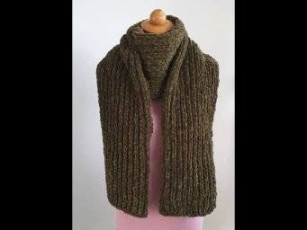 Knitting Scarf-Super Easy