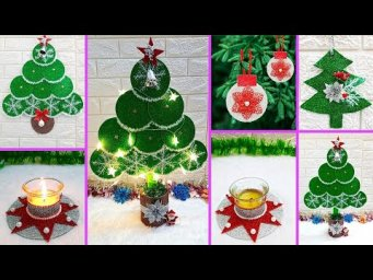 5 Economical Christmas Craft/Ornament with recycled materials|Best out of waste Christmas craft idea