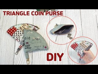 DIY TRIANGLE COIN PURSE/ Free Pattern/ Zipper pouch/ sewing tutorial [Tendersmile Handmade]