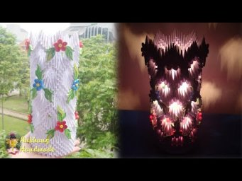 3D Origami Lamp Tutorial | DIY Homemade Paper Lamp Home Decoration