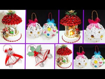 3 Low budget Christmas Craft idea with recycled materials |best out of waste Christmas craft idea