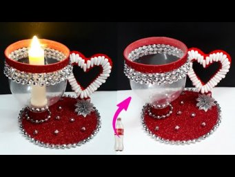 DIY New Tealight holder/Showpiece made from Plastic Bottle| DIY home decoration ideas