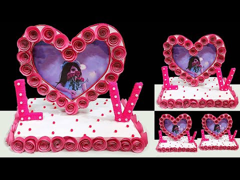 Valentine Showpiece/Photo frame idea on Budget |DIY valentine craft on budget |Valentine decor idea