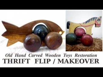 Wooden Toys Restoration $10 Thrift Flip March 2020 Makeover Before and After