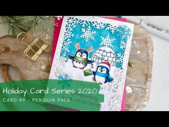Holiday Card Series 2020 #9 | Copic Coloring | Sunny Studio Stamps