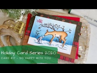 Holiday Card Series 2020 #17 | Copic Coloring an Entire Scene | Colorado Craft Company