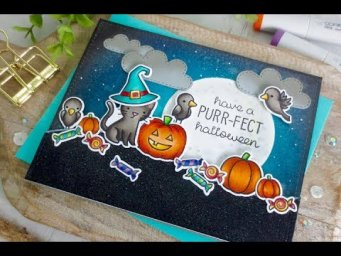 Purr-Fect Halloween | Copic Coloring | Lawn Fawn