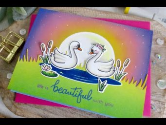 Life is Beautiful Card | Copics + Distress Oxide | Lawn Fawn