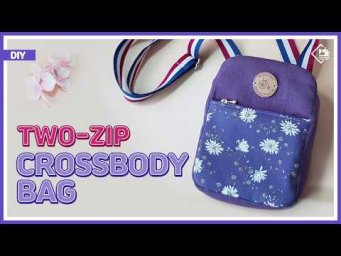 DIY/ TWO-ZIP CROSSBODY BAG/ 지퍼가 두개있는 크로스백 만들기/ 가방만들기 / sewing/ tutorial [Tendersmile Handmade]