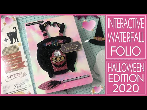 Interactive Waterfall Folio Halloween Edition - Craft Fair Ideas - Mini Album