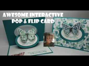 HOW TO MAKE THIS AMAZING POP & FLIP  Butterfly Card