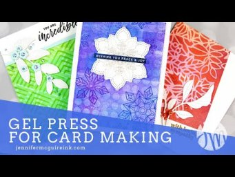How To Use a Gel Press + MANY Cards