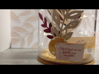 DIY Home Déco #3 Cloche en verre Slow Life (DT Custodeco)