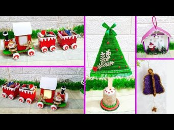 4 Easy Handmade Economical Christmas Craft idea |DIY Low budget Christmas craft idea
