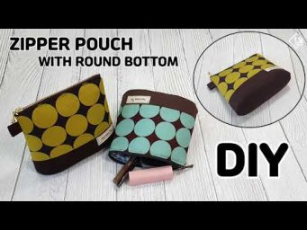 DIY ZIPPER POUCH WITH ROUND BOTTOM/ Makeup pouch/ Free pattern/sewing tutorial[Tendersmile Handmade]
