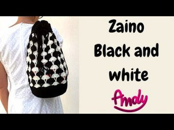TUTORIAL Zaino Black and White Uncinetto Facile  Andy Handmade