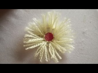 How to make Turkey stitch flower|| easy hand embroidery|| for beginners ❤️ Heaven's embroidery 2