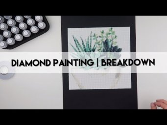 Diamond Painting - Completed & Breakdown | Succulent