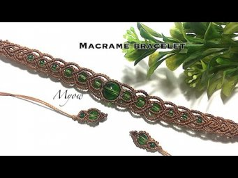 MACRAME BRACELET WITH BEADS - MACRAME TUTORIAL - MYOW 186
