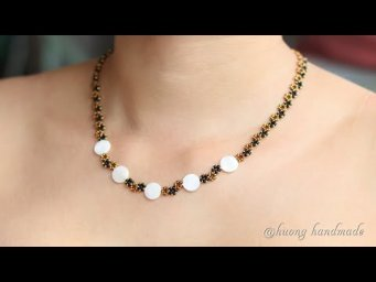How to make beaded necklace. Easy tutorial