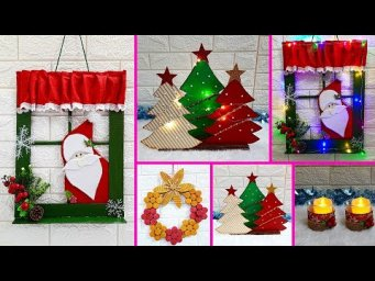 Economical 4 Easy Christmas Craft idea | Best out of waste Low budget Christmas craft idea (Part 8)