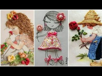 Embroidery designs / Beautiful embroidery work / girl embroidery / doll embroidery designs
