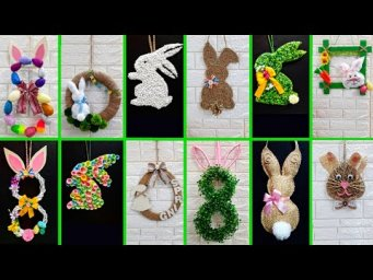 12 Economical Easter wreath  with waste materials |DIY Low budget Easter/spring decor idea (Part 2)