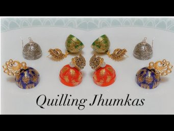 Make Unique Paper Jhumkas/Beautiful paper Jhumkas making using Simple trick/Made out of paper