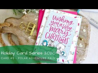 Holiday Card Series 2020 #5 | 5 Tips for Quick & Cute Cards | Copic Coloring | MFT