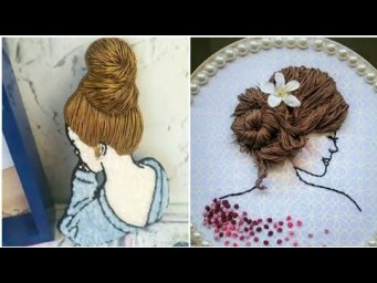 Hairstyle inspired hand embroidery designs / Unique  collection of 3D hand embroidery designs