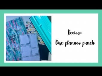 Disc planner punch -REVIEW-// ¡¡¡Tu HAPPY PLANNER no volverá a ser el mismo!!!