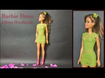 How to crochet Barbie Dress Tutorial free (left hand)