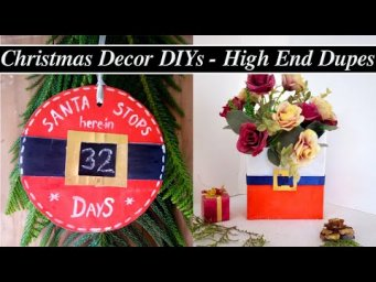 Santa Claus themed Farmhouse Christmas Decor DIY, Holiday DIY, Look for Less & Trash to Treasure