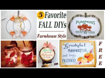 TOP 5 Popular Fall Farmhouse Decor DIYs MomDas Life Handmade