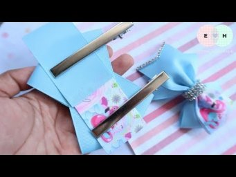 Amazing Ribbon Bow - Hand Embroidery Works - Ribbon Tricks & Easy Making Tutorial #72