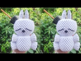 3D Origami Mashimaro , Rabbit Tutorial | DIY Paper Mashimaro, Rabbit Home Decoration