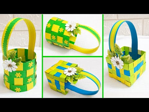 2 Beautiful Paper Basket- DIY Easter Basket - Paper Craft - Easter Home Decor (Part 1 )