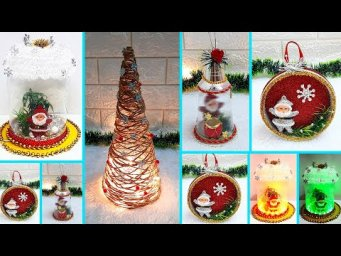 4 Low budget Christmas Craft made with recycled materials |best out of waste Christmas craft idea
