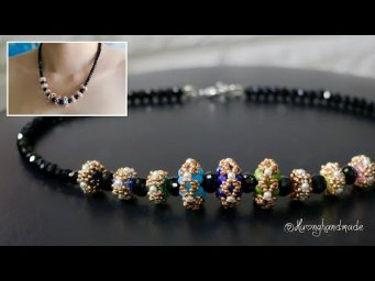 Jewelry DIY. How to make beaded necklace. Beaded beads