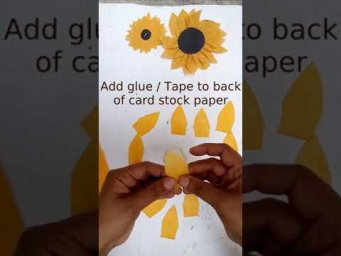 How to Make Shopping Bag Flower / Sunflower Tutorial / Trash to Treasure #shorts