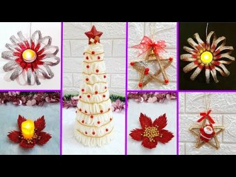 Best out of waste 4 Christmas craft idea with recycled materials |Low budget Christmas craft idea