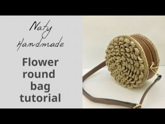 How to crochet round flower bag