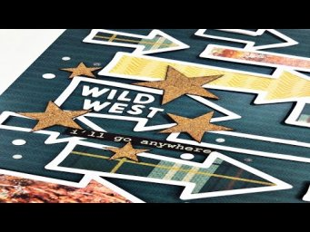 Scrapbooking Process Video: Wild West