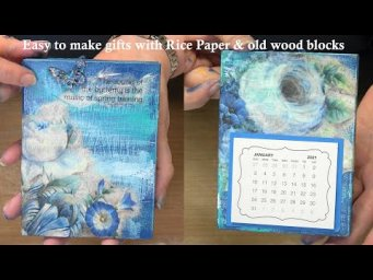 #366 Stampendous Flash Sale  Making Wood Mount Stamps into affordable gifts with stunning rice paper