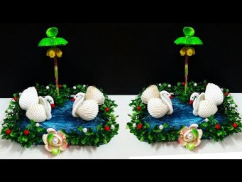 DIY Showpiece made with Sea shell for home decor | Seashell craft idea for home decoration